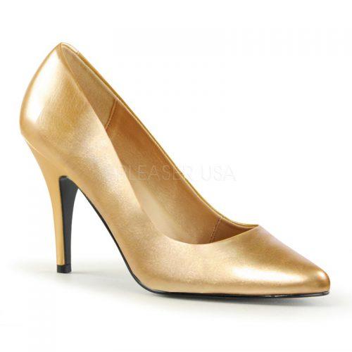 Gouden pumps met 9 cm naaldhak | Silhouette Schoenen | Hoge hakken