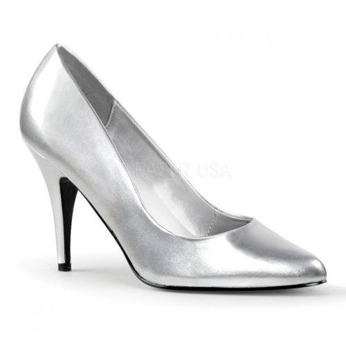 Imi-leren zilveren pumps met 9 cm hak | Silhouette Schoenen