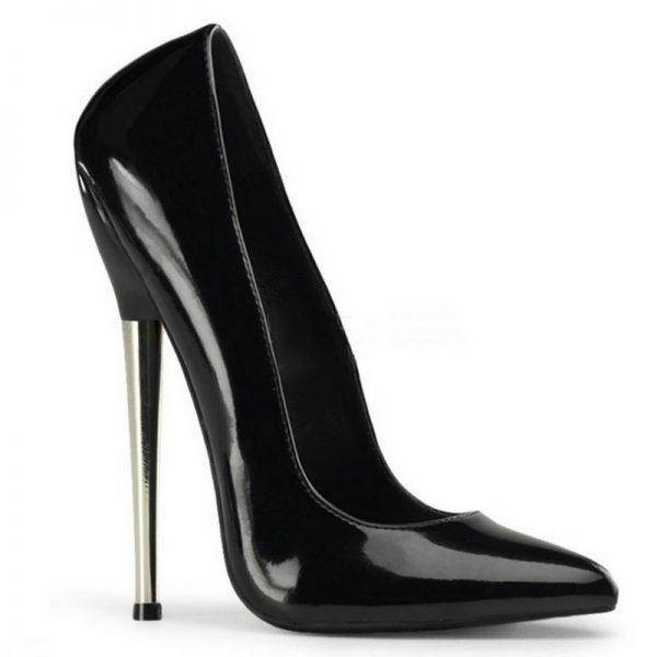 Extreme fetish pump met spike heel | Kinky Heels | Metalen Hakken
