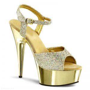 Dansschoenen in goud met glitters | Glitterheels | Delight-609
