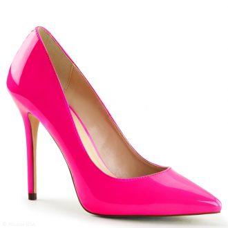 Neon roze hoge hakken met spitse neus en stiletto hak | SILHOUETTE