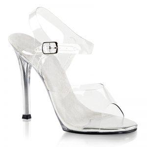 Doorzichtige poseerschoenen | Poseerschoenen met 11 cm hak
