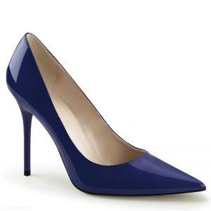 Donkerblauwe pumps | Blauwe pumps met hoge hak | Classique-20