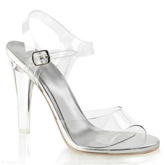 Doorzichtige posing shoes poseerschoenen bredere hoge hakken IFBB
