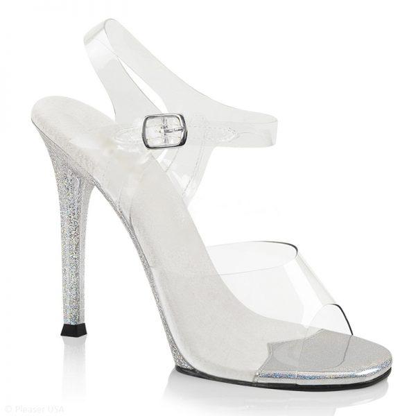 Doorzichtige poseerschoenen posing shoes extra hoge hak IFBB