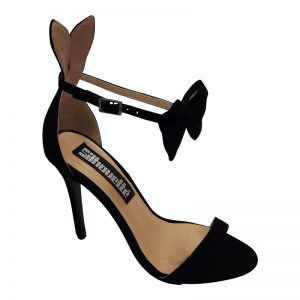 Playboy Bunny sandaaltje zwart met strikje en naaldhak