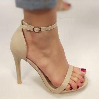 Strappy sandal met naaldhakken
