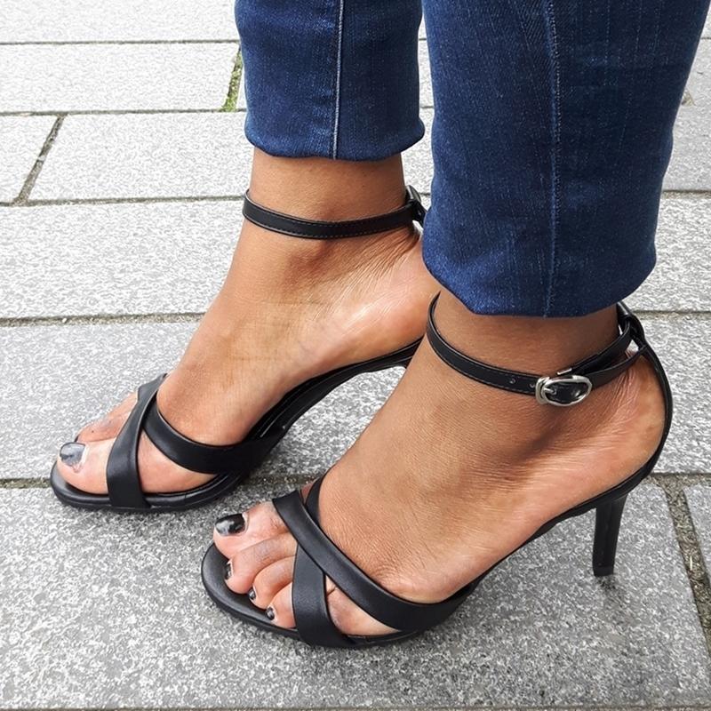 zwarte open damesschoenen