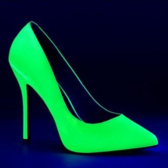 Neon groene hoge hakken met spitse neus en stiletto hak | SILHOUETTE