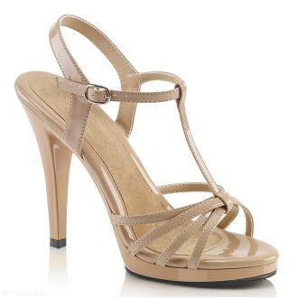 Nude sandalen met hoge hakken en bandjes | SILHOUETTE