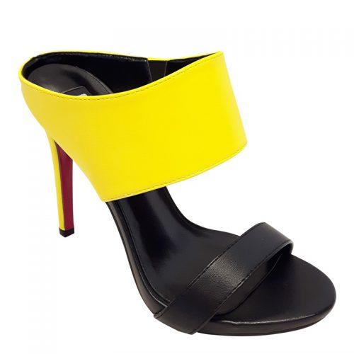 Gele slippers met hoge hak | SILHOUETTE | Alleen maar hoge hakken!