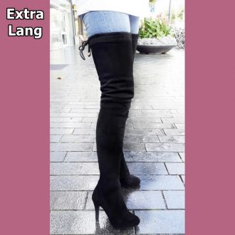 Extra lange over de knielaars met ronde neus   Extra hoge laarzen