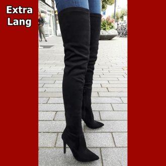 Korte kaki overknees met ronde neus   Hoge laars voor korte benen