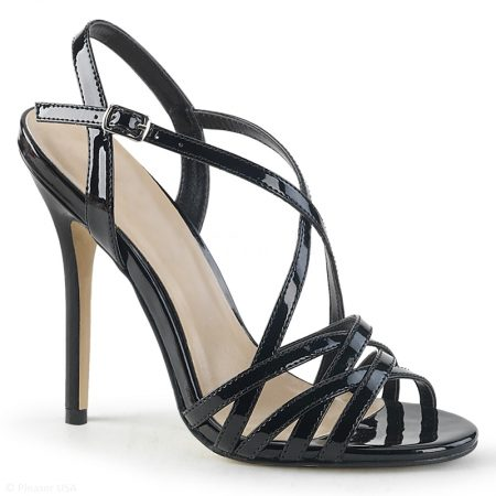 Zwarte damessandalen met hoge hak | Stiletto Sandaaltjes | Amuse-13