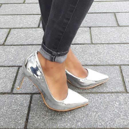 Hoge hakken in metallic zilver | Nu kopen en achteraf betalen | Silhouette