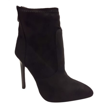 Zwarte stiletto enkellaarsjes | Stretch enkellaarsjes | Silhouette