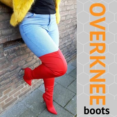 Overknee laarzen met hakken bij schoenenwinkel Silhouette Rotterdam
