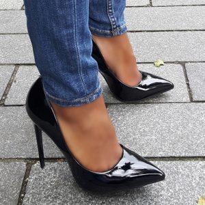 Lak pumps met stiletto hakken | Zwarte hoge hakken | Silhouette