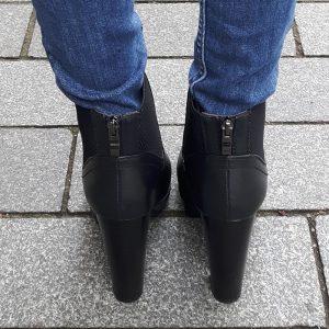 Chelsea boots leer look met hak en profielzool | Chelsea boots met hak