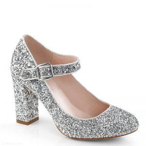 Glitter hakken zilver | Goedkope glitter hakken | Glitterhakken Rotterdam