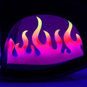 Danshakken met gekleurde vlammen in de zool | Pleaser Moon Flame