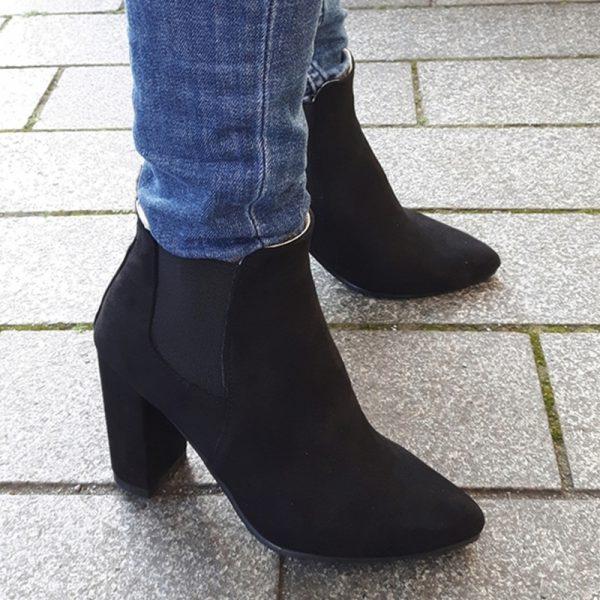 Chelsea boot met blokhak | Dames laarzen kleine maten met hak