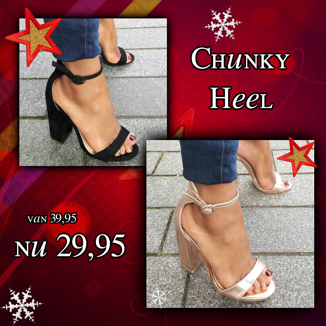 Chunky Heel strappy