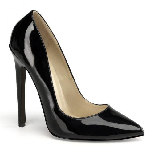 Zwarte pumps met hoge hakken   Extreem hoge hakken zwart   Silhouette