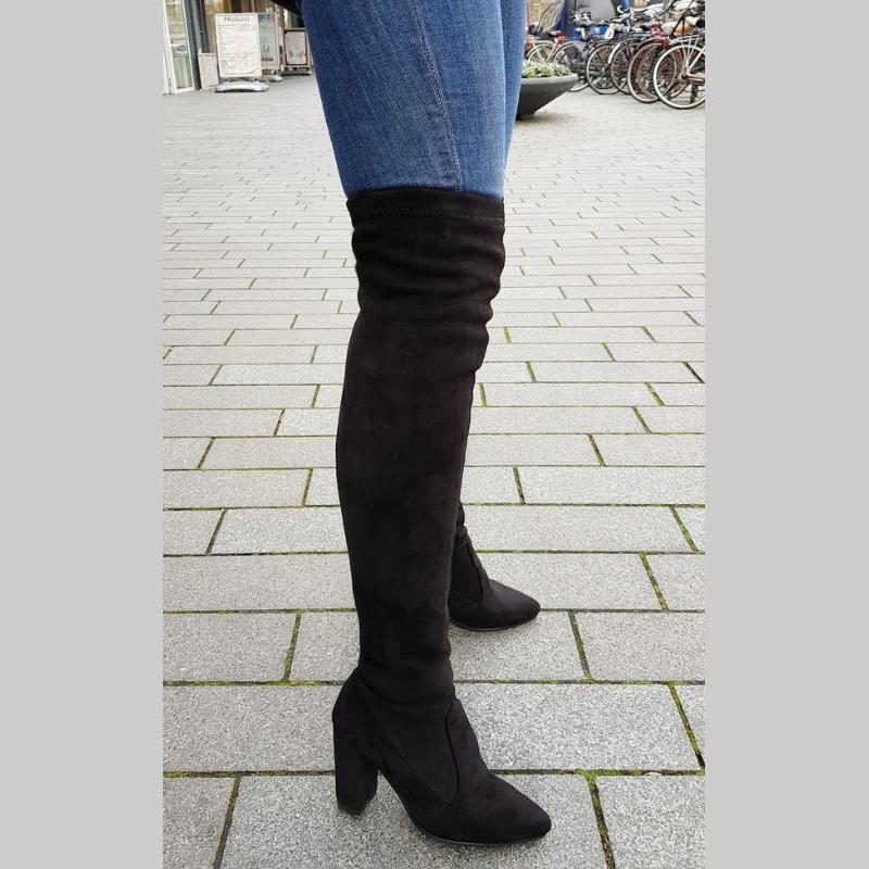 Overknee laarzen in kleine maten met blokhak | Overknee maat 32 |33 | 34