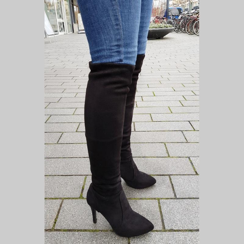Overknee laarzen in kleine maten met naaldhak | Overknee maat 33 / 34