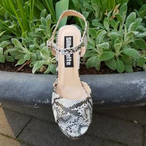 Snake print sandalen met plateau | Snake print hakken | Silhouette