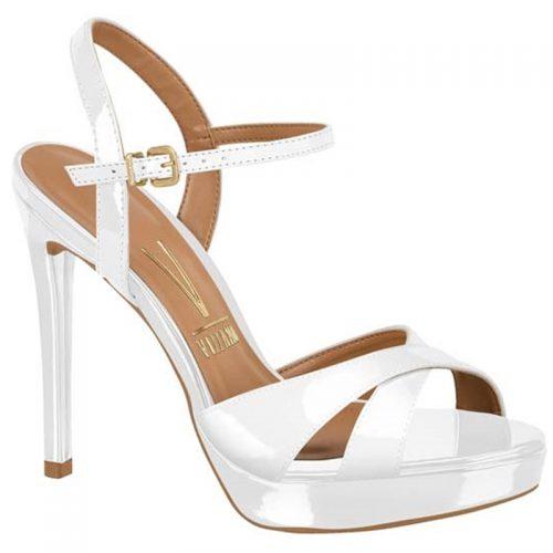 Witte lak sandalen met naaldhak Sandalen in wit met hoge hak