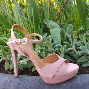 Oud roze sandalen met naaldhak | Sandalen in oud roze met hoge hak