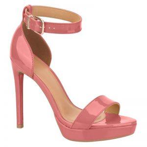 Oud roze sandalen hoge hak met bandje   Sandalen in oud roze lak