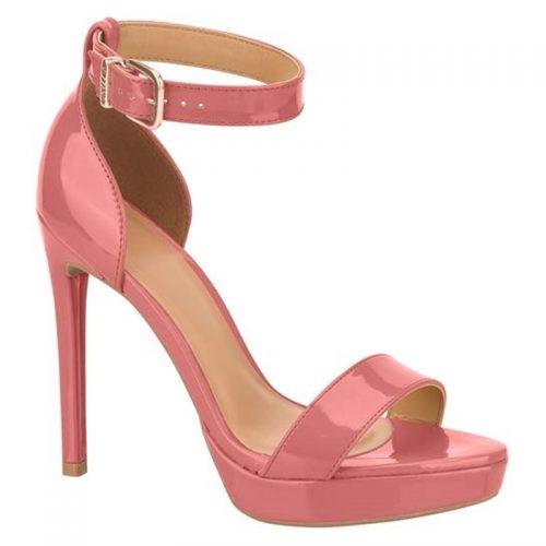 Oud roze sandalen hoge hak met bandje | Sandalen in oud roze lak