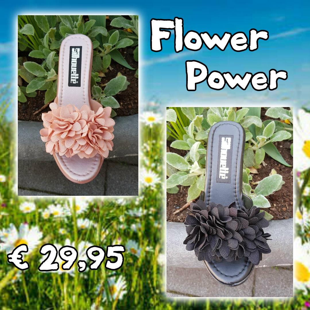 Flower power extra lichtgewicht slippers