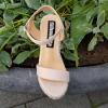 Sandalen met sleehak kleine schoenmaat | Kleine maat sleehakken kopen | Nude sleehakken maat 34 33 32 31