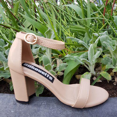 Beige sandaaltje in kleine maten | Beige blokhakken maat 31 32 33 34