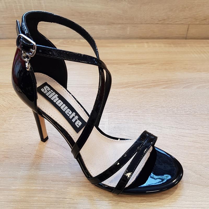 Wonderbaarlijk Zwarte dames sandaal met hak XTI en kruisbanden | Silhouette Rotterdam KB-02