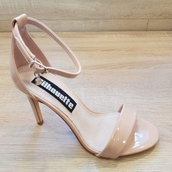 Nude sandaal met hoge hak en smalle bandjes | XTI nude sandaal hak