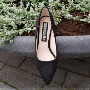 Zwarte pumps met stevige naaldhak | Geen spleetjes tussen je tenen