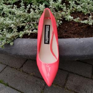 Neon roze pumps met stevige naaldhak | Roze pumps 11cm hak | Pumps met hak neon kleuren