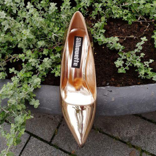 Rosé gouden pumps met naaldhak | Metallic rose gold heels | Silhouette