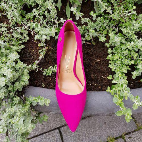 Fuchsia roze pumps met 8cm naaldhak zonder teendecolleté | Silhouette