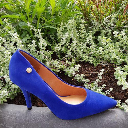 Kobalt blauwe pumps met 8cm naaldhak zonder teendecolleté | Silhouette