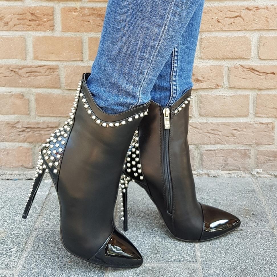 Spike heel boots