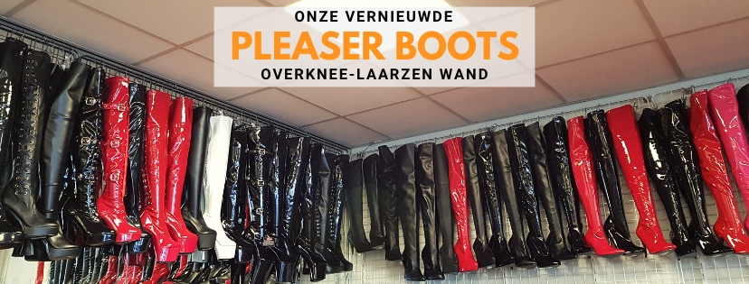 Pleaser overknee laarzen met hoge hak van Pleaser op voorraad bij Silhouette Rotterdam
