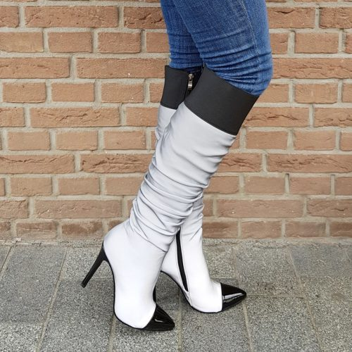 Reflective boots   Reflecterende hoge laarzen   Reflector hakken