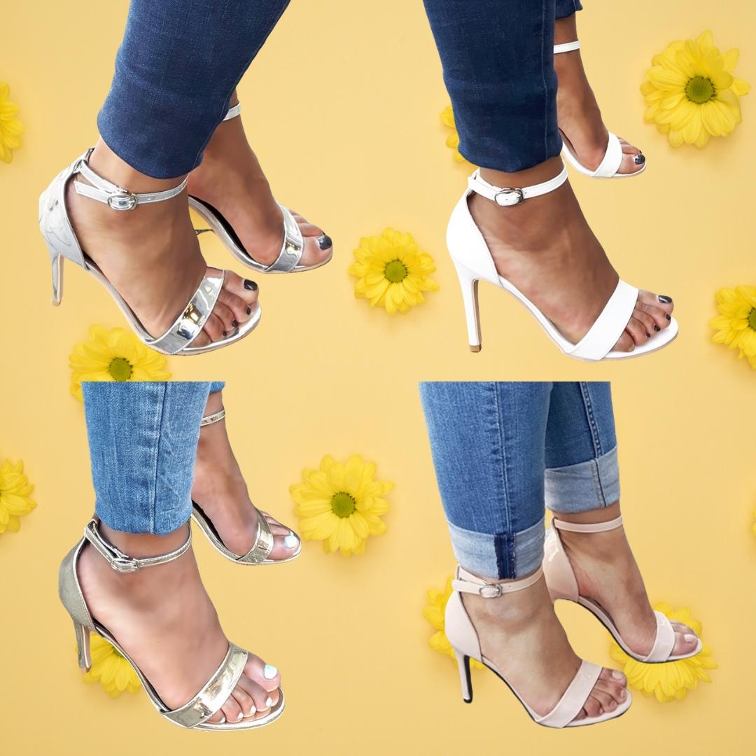 Eenvoudige sandaaltjes met hoge hak