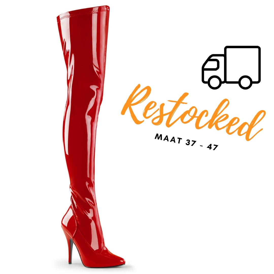 2638-60-001 - hoge rode laarzen in grote maten